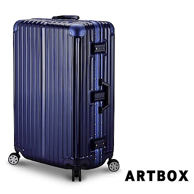 【ARTBOX】威尼斯漫遊-29吋PC鏡面鋁框行李箱 (寶藍)