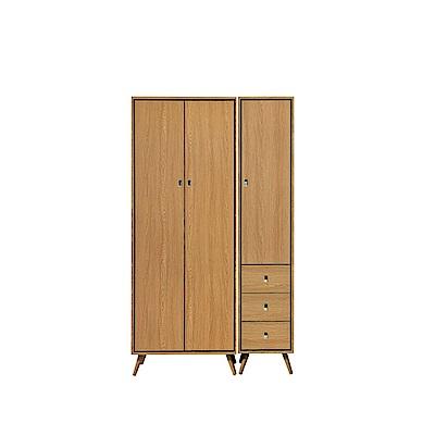 MUNA布朗克斯3.8尺雙吊衣櫥(衣櫃) 115X59.5X196cm