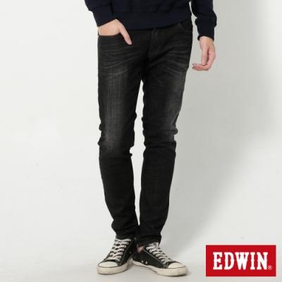 EDWIN 503 經典五袋式 窄直筒牛仔褲-男-黑灰色