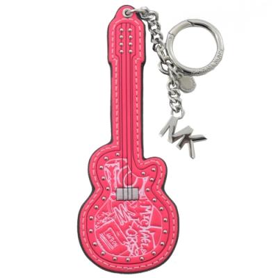 MICHAEL KORS 街頭塗鴉吉他造型鑰匙圈(螢光粉)