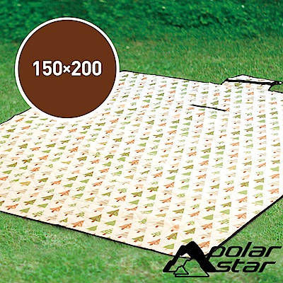 PolarStar 多功能防潮睡墊/野餐墊『三角松樹/白底』150*200 P18723B