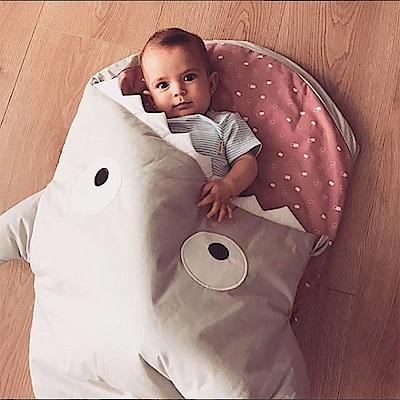 【嬰幼兒標準版-卡其灰粉】BabyBites西班牙鯊魚咬一口睡袋