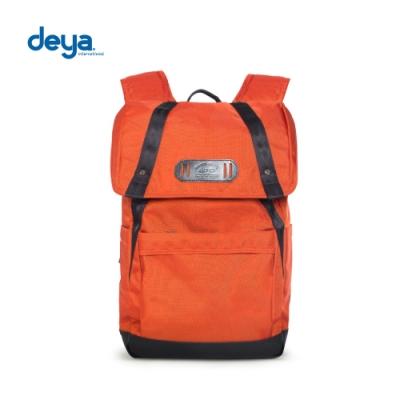 deya 零侷限袋蓋束口後背包-橘