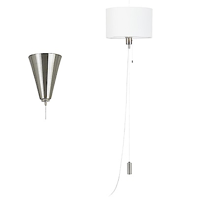 EGLO歐風燈飾 時尚白美型圓燈罩式吊燈(不含燈泡)