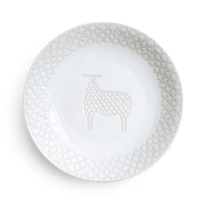 日本Natural69 波佐見燒 ZUPA White系列 甜點盤 15cm 綿羊 日本製