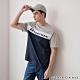 GIORDANO 男裝G-MOTION拼接織帶撞色短袖T恤 -07 灰/白/藍 product thumbnail 1