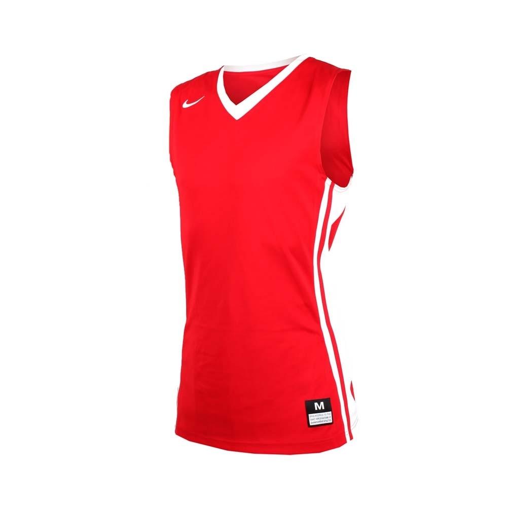 NIKE 男V領籃球針織背心-無袖背心 運動背心 球衣 紅白