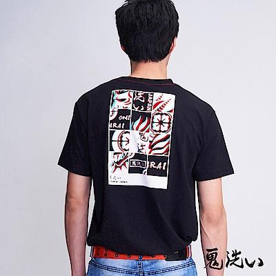 鬼洗 BLUE WAY 迷幻側鬼拼圖TEE(黑)