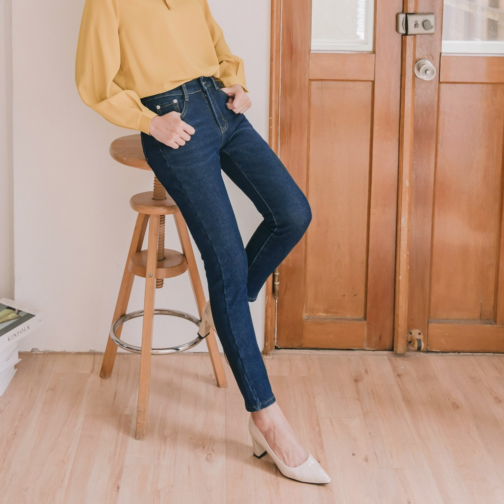 簡約刷色內刷毛保暖牛仔褲-OB嚴選 product image 1