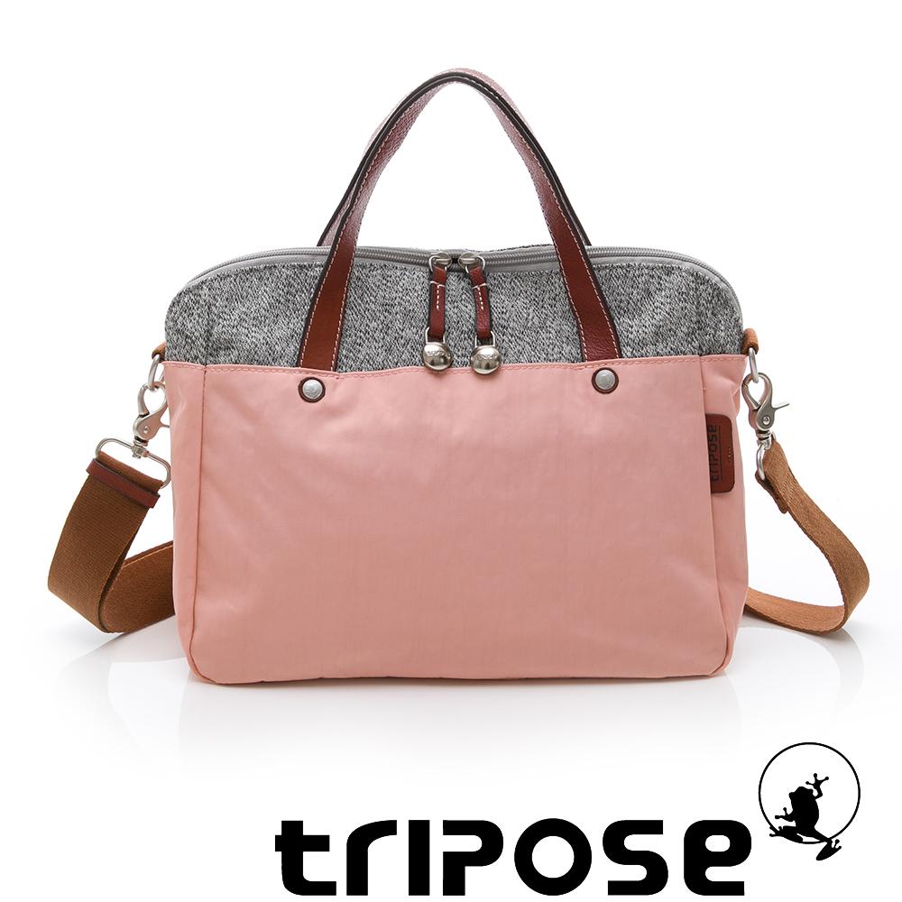 tripose 漫遊系列岩紋玩色兩用手提背包 粉