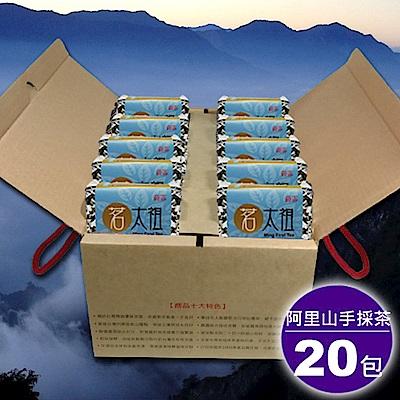 【茗太祖】台灣極品阿里山手採茶藍鑽伴手禮20入禮盒組(50gx20)