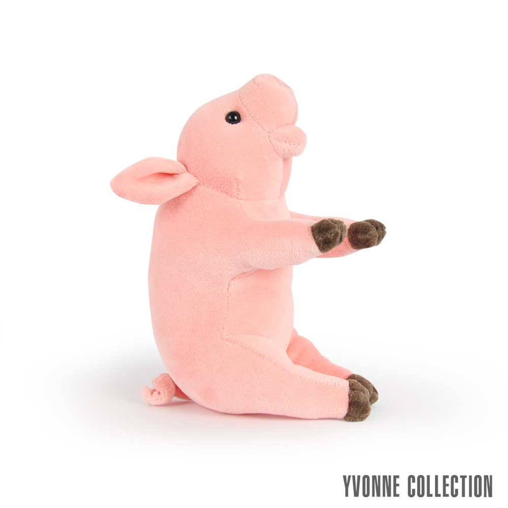 Yvonne Collection 豬豬造型小玩偶- 粉橘紅