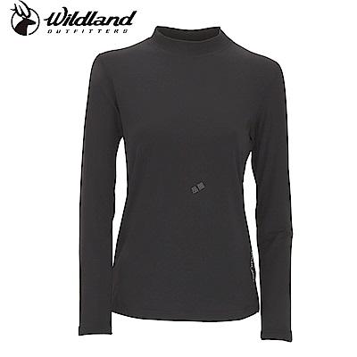 【Wildland 荒野】女遠紅外線彈性保暖衣黑