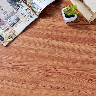 樂嫚妮 塑膠PVC仿木紋DIY地板貼 6.9坪 欒葉蘇木