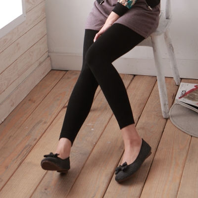 TiNyHouse厚刷毛彈性保暖內搭褲襪(九分丈2入組)