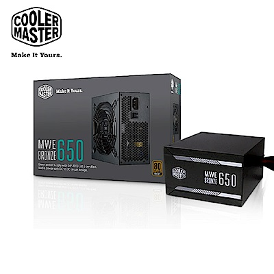 Cooler Master MWE 80Plus銅牌 650W 電源供應器