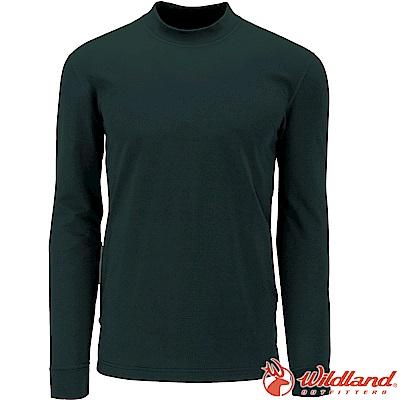 Wildland 荒野 W2652-43深橄欖 男遠紅外線保暖中領衛生衣