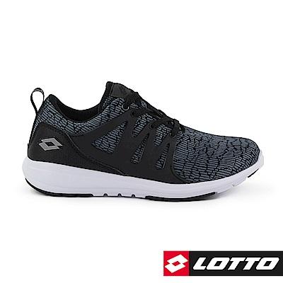 LOTTO 義大利 女 CITYRIDE 潮流跑鞋 (黑灰)