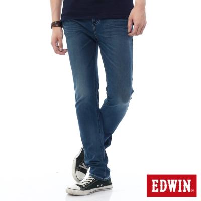 EDWIN 大尺碼直筒褲 迦績褲酷涼PK牛仔褲-男-石洗綠