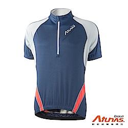 《Atunas Bike》歐都納 單車 B13026M 撼動短袖車衣 深藍/淺灰