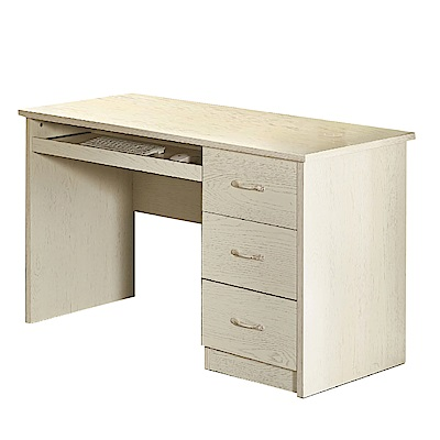 文創集 艾西佛時尚4尺三抽書桌/電腦桌-120x60x75cm免組