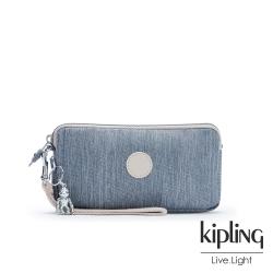 Kipling 淺色丹寧藍手拿包-LOW