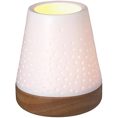 《RADER》木座白瓷燭台(波點壓紋)