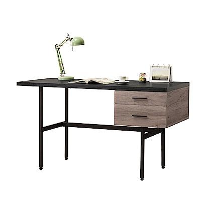文創集 奧斯本時尚4.7尺木紋書桌(二色可選)-140x60x78cm免組