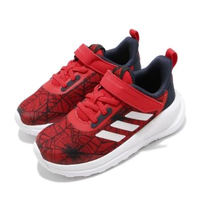 adidas 運動鞋 FortaRun Spider M 童鞋 愛迪達 聯名 蜘蛛人 漫威 魔鬼氈 小童 紅 白 FV4266