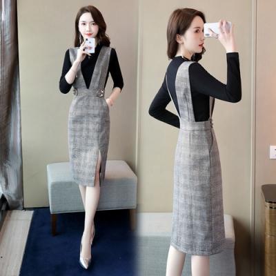 率性柔美時尚氣質小香風裙套裝M-2XL(共二色)SZ