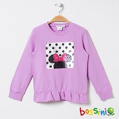 bossini女童-米奇系列厚棉上衣01紫