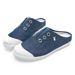 PLAYBOY 百搭首選穆勒帆布鞋-藍-Y5209FF