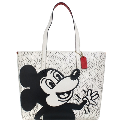 COACH Disney Mickey Mouse X Keith Haring大款托特包