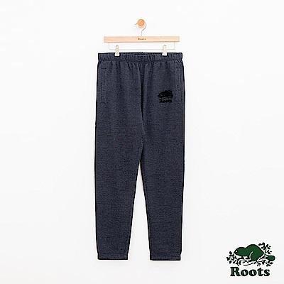 男裝Roots 經典棉質休閒棉褲-藍