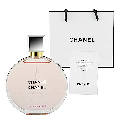CHANEL香奈兒 CHANCE 粉紅甜蜜香水50ml 贈提袋及美妝小物