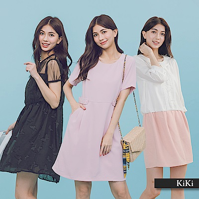 【KiKi】CP值超高優雅-洋裝 (多款選/均一價)