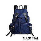 BLACK SEAL 休閒雙扣細尼龍軍旅後背包- 藏藍 BS83111