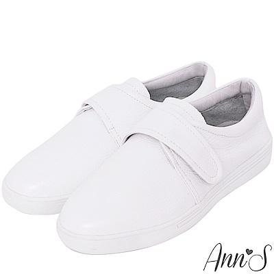 Ann'S第二代簡單魔鬼氈小白鞋