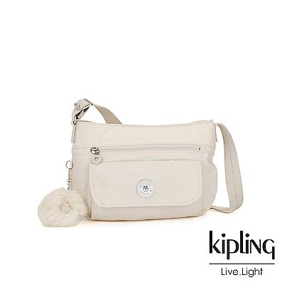 Kipling 優雅米白掀蓋側背包-SYRO