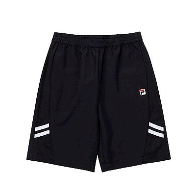 FILA KIDS 童風衣五分褲-黑 1SHT-4434-BK