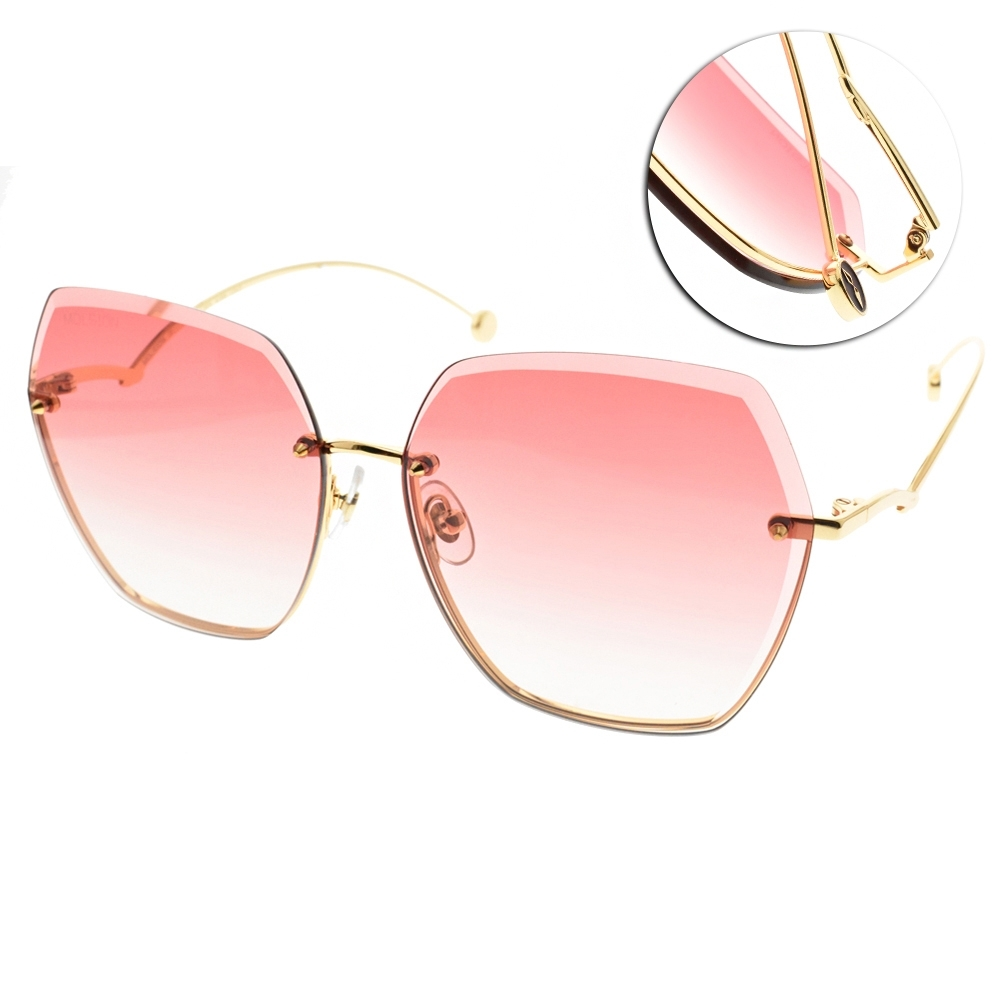 MOLSION 飛行款太陽眼鏡  金-漸層粉橘 # MS7067 A62