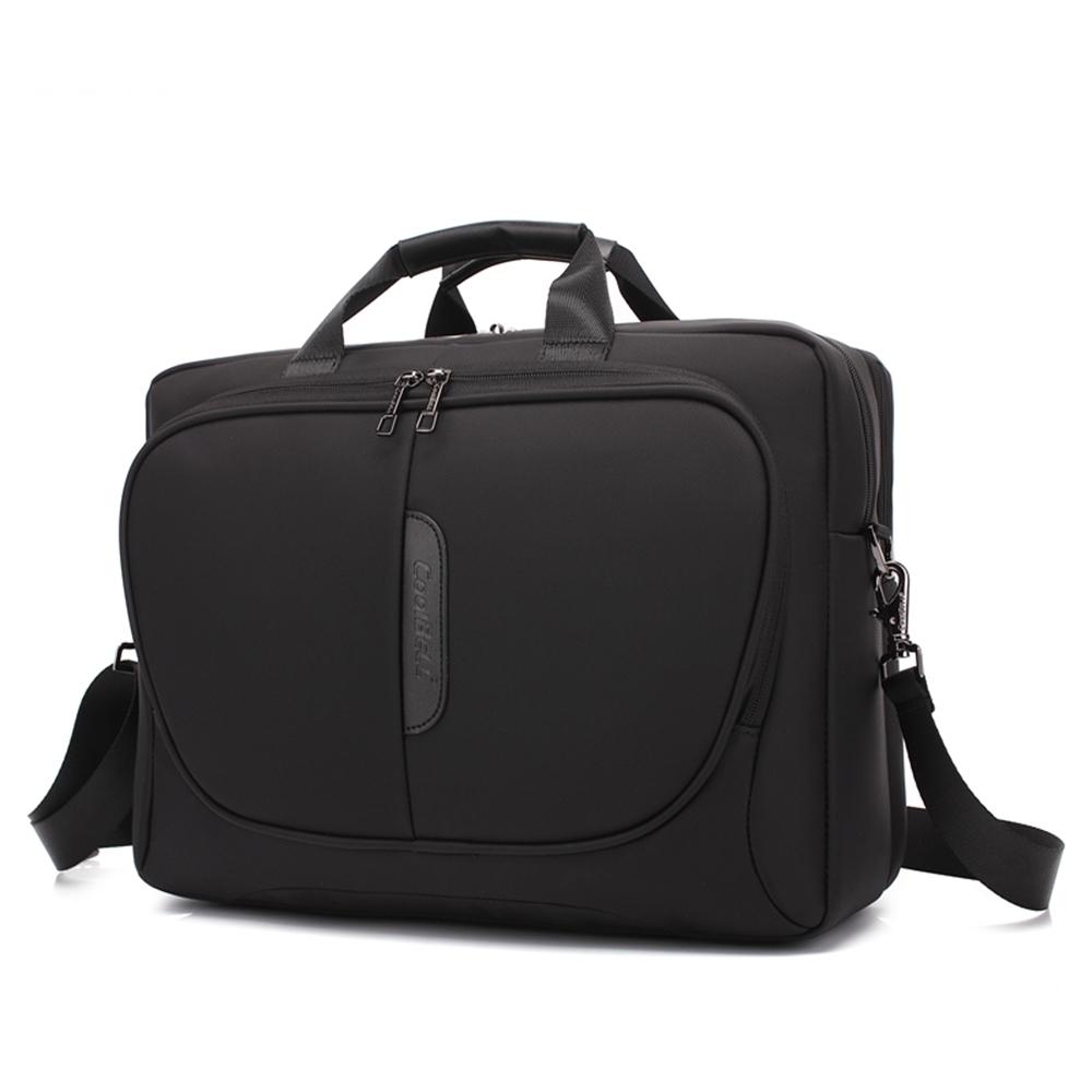 歐風電腦側背包15.6吋黑色 CB5001BK