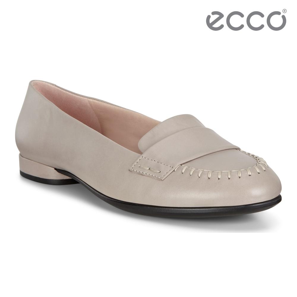 ECCO ANINE 時尚精緻復古低跟平底鞋 女鞋-灰粉色