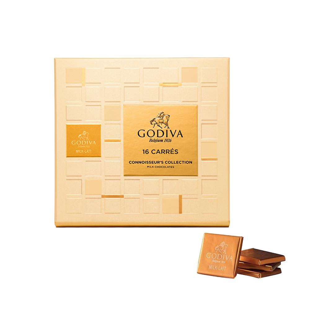 GODIVA 牛奶巧克力片禮盒(16片/盒)
