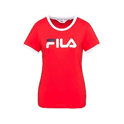 FILA 女款短袖圓領T恤-紅色 5TET-1510-RD
