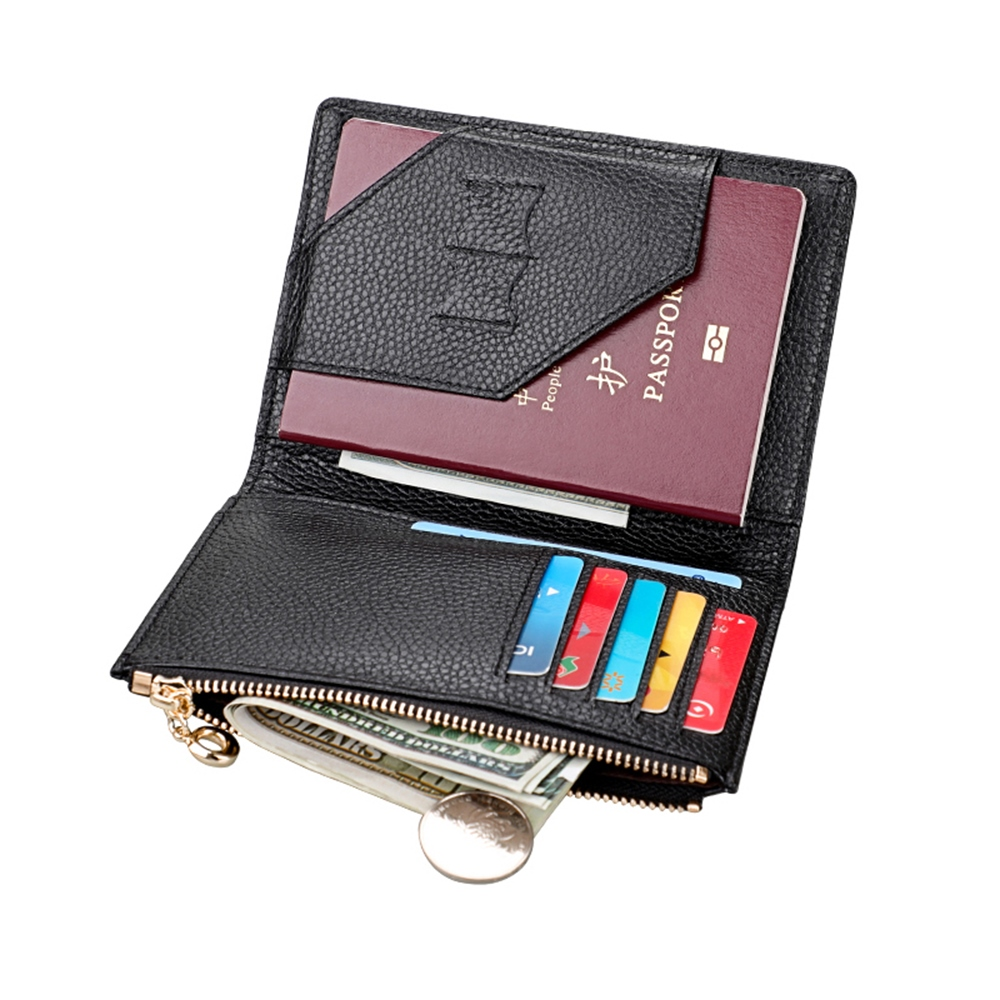 GT1005BK真皮護照包零錢包證件包皮夾黑色