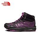 The North Face北面女款紫色防水高筒徒步鞋|3FX32KH