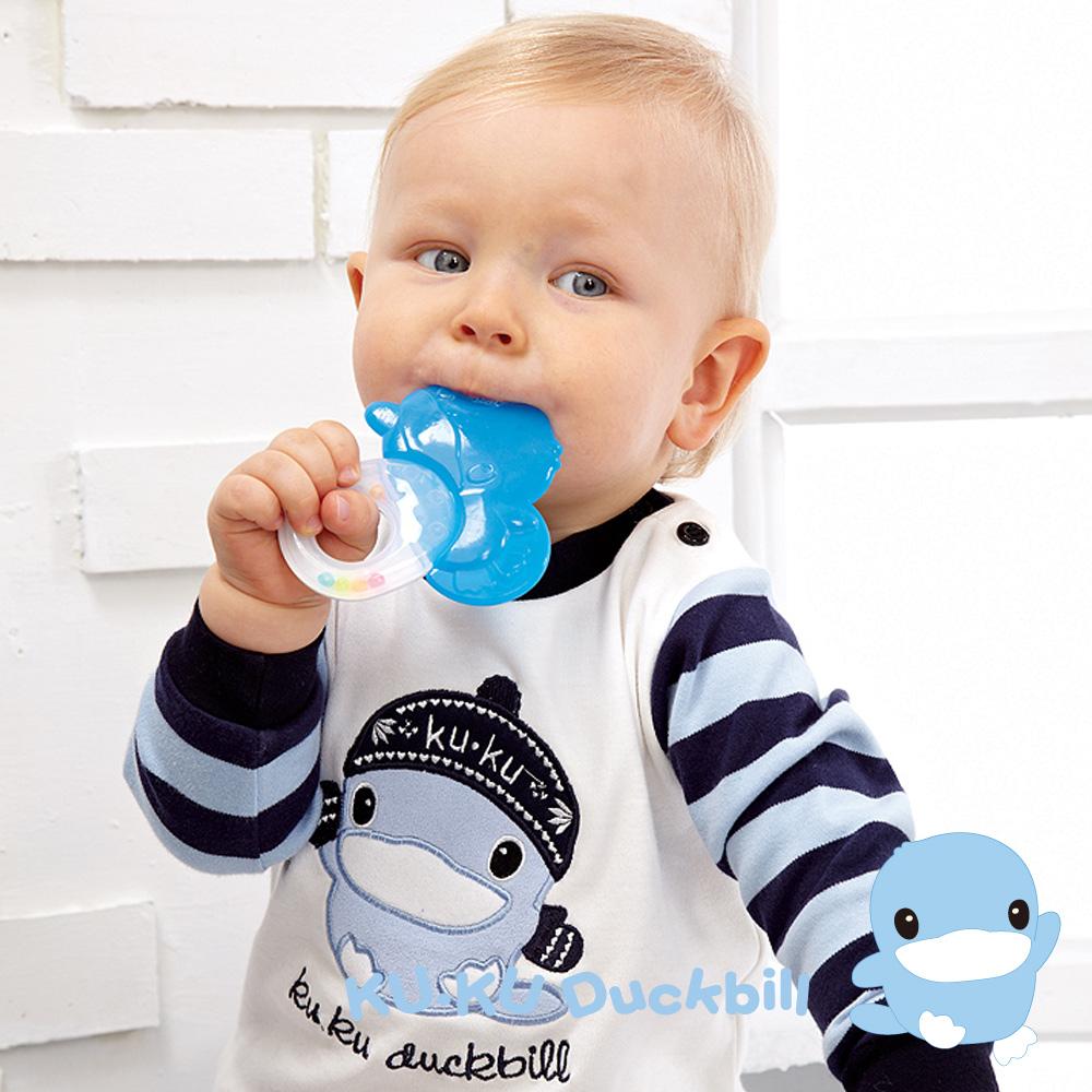 KU.KU酷咕鴨造型冰鑽固齒器(5398)-藍/粉