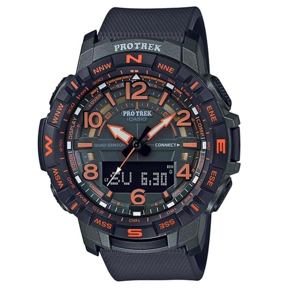 CASIO卡西歐 藍芽連結登山錶(PRT-B50EF-3D)