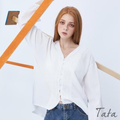 寬鬆燈籠袖排扣上衣 TATA-F